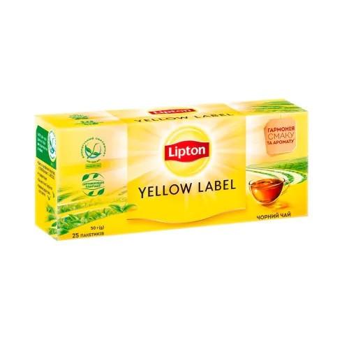 Черный чай Lipton Yellow Label 25 пакетиков