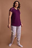 Комплект женский батальный со штанами - Кружево