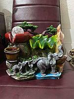 Фонтан декоративный интерьерный 3 слона