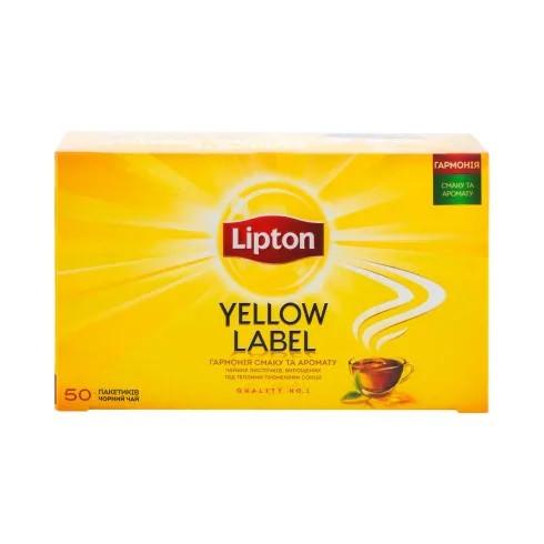 Черный чай Липтон в пакетиках Yellow Label 50*2 г