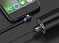 Магнитный кабель угловой Topk micro USB 1 метр черный, фото 5