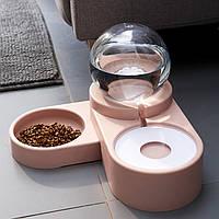 Автоматическая кормушка поилка 2 в 1 для собак кошек