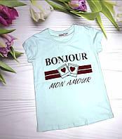 """Футболка для девочки, """"Bonjour"""", 134, 146, 152, 158 Wanex (Ванекс), Турция"""