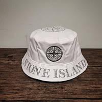 Мужская стильная панама (Stone Island) white / 58 размер