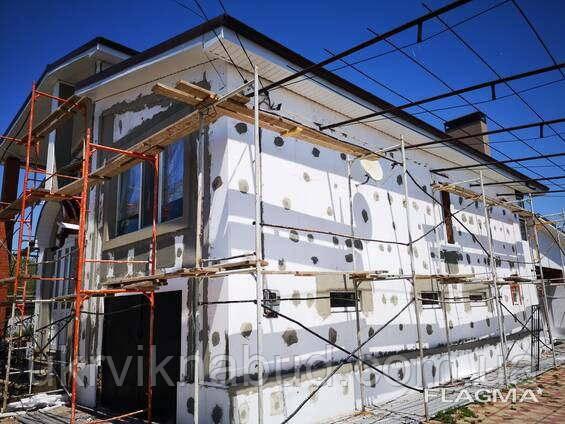 Фасадное утепление частных домов и коттеджей. Утепление фасада домов