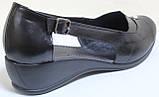 Босоножки большого размера на танкетке кожаные от производителя модель БД15Б, фото 4