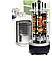 Электрошашлычница Domotec на 6 шампуров шашлычница 1000W, ЧЕРНАЯ электромангал, мангал, шашлык дома, фото 2