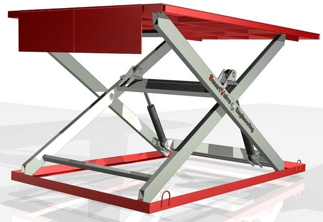Подъемный стол г/п1.5т. Размеры стола 3х2м. Подъем 1,8м.