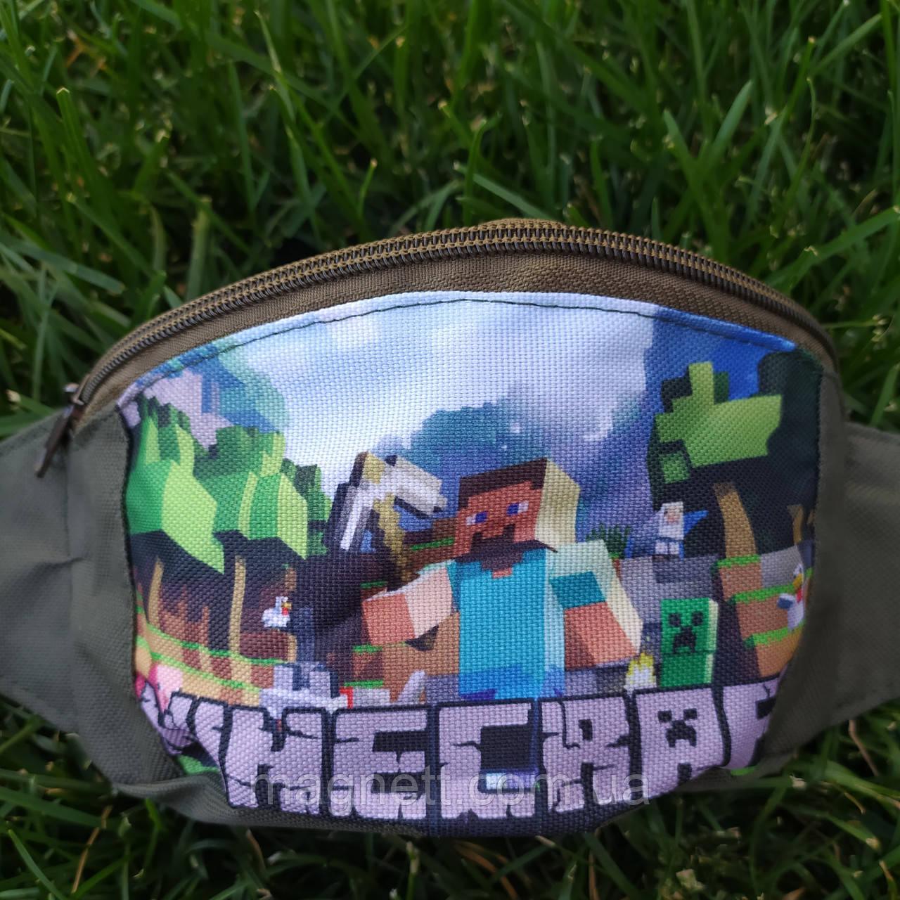 Детская поясная сумка бананка для мальчиков Майнкрафт <>