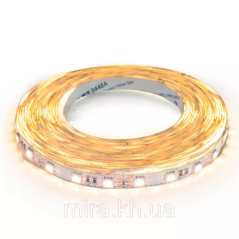 Светодиодная лента BIOM Professional BPS-G3-12-5050-60-WW-20 теплый белый, негерметичная, 5метров