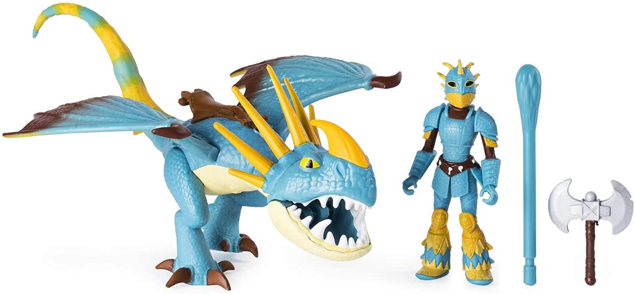 Dreamworks Как приручить дракона 3 дракон Громгильда и Астрид 20103699 Dragons Stormfly and Astrid Armored Viking Figure