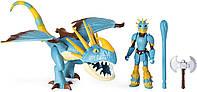 Dreamworks Как приручить дракона 3 дракон Громгильда и Астрид 20103699 Dragons Stormfly and Astrid Armored Viking Figure, фото 1