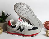 0390 Кроссовки New Balance из натуральной замши. Светло-серого цвета. 40 размер - 27 см по стельке, фото 6