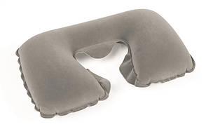 Надувная подушка под шею Flocked Travel Pillow 37х24 см   Подушка для путешествий