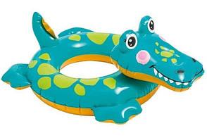 Детский надувной круг для плавания Intex 58221-2 | Плавательный круг для детей Крокодил