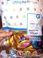 """Повітряні кульки АМ80 8"""" (21см) 082 перламутр мікс Gemar"""
