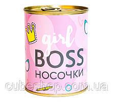 Носки-консервы Girl boss
