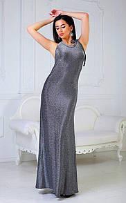 Платье чёрное люрекс коктельное Nikolo Polini