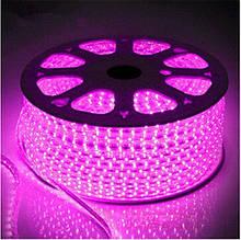 Лента LED светодиодная на 220V розовая 4W/m влагозащита IP65 №10/5 120Led