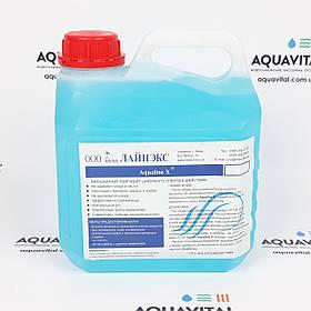 Бесхлорное биоцидное комплексное средство Aqualine X для обработки воды и поверхностей, 3 л