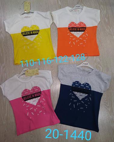 Детская футболка для девочки сердце  р.5-8 лет, фото 2