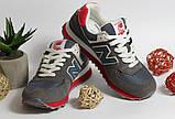 0391 Кроссовки New Balance из натуральной замши. Темно-серого цвета. 41 размер - 27 см по стельке, фото 2