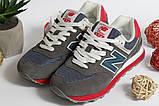 0391 Кроссовки New Balance из натуральной замши. Темно-серого цвета. 41 размер - 27 см по стельке, фото 5