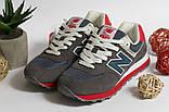 0391 Кроссовки New Balance из натуральной замши. Темно-серого цвета. 41 размер - 27 см по стельке, фото 7