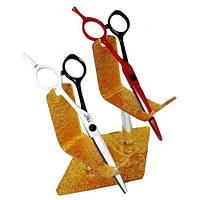 Подставка для ножниц золотая на 2шт
