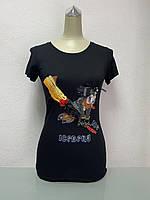 Футболка в стиле Ice-B бренд женская короткий рукав черная копия, фото 1