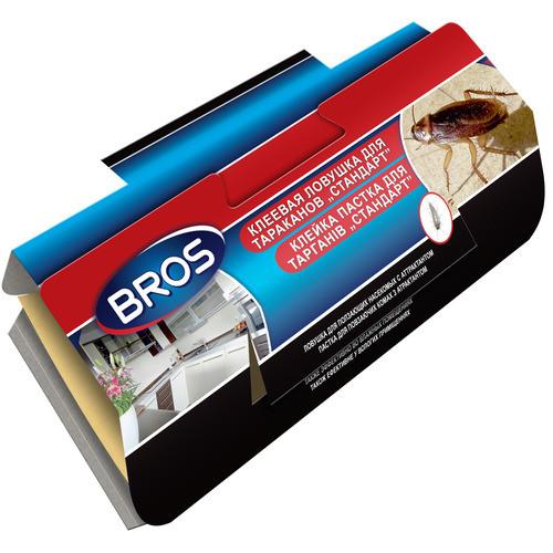 Bros / Брос клеевая ловушка-домик — для отлова тараканов с феромоном