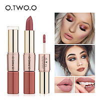 O.TWO.O Move Heart Long-wearing 2-in-1 Матовая помада и блеск для губ 2в1