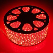 Лента LED светодиодная на 220V красная 4W/m влагозащита IP65 №10/5 120Led