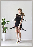 Комплект для танцев с бахромой Sevenstore 4124 Черный