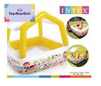 Дитячий басейн з дахом - Intex 57470 - надувний басейн / надувной бассейн с крышей