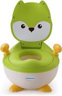 Горшок с мягким кольцом лисичка зеленый babyhood BH-113FG