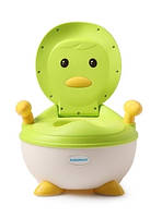 Детский горшок Пингвин с полиуретановым кольцом, зеленый - Babyhood BH-113PG