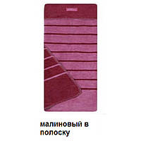 Одеяло из хлопка Womar Zaffiro 100x150cm - малиновый в полоску  - 16771