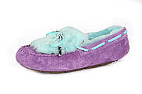 Жіночі мокасини UGG Dakota Fur violet, фото 1
