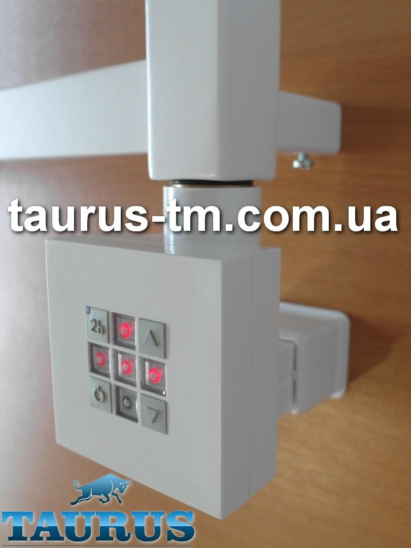 Белый квадратный ТЭН KTX2 MS white: регулятор 30-60C + таймер 2ч.+ Маскировка провода + LED подсветка; Польша