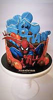 Детский Торт   Спайдермен Человек Паук Spider-Man  (кремовый без мастики)