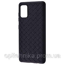 Weaving Case (TPU) Samsung Galaxy A41 (A415) black