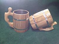 Бокал пивний деревяний з горіха