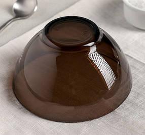 Гладкий порционный салатник из дымчатого стекла Luminarc Амбьянте Эклипс 120 мм (L5174), фото 2
