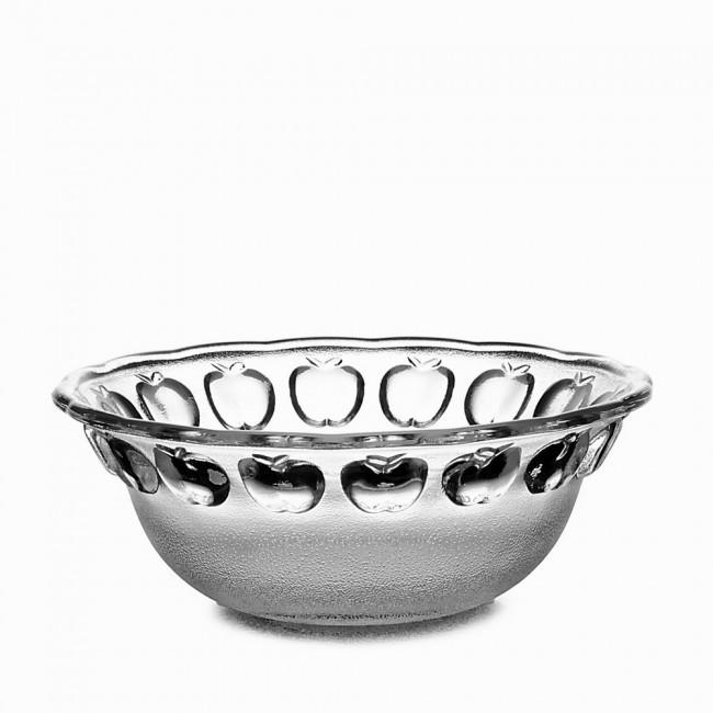 """Большая стеклянная салатница из матового стекла Helios """"Яблоко"""" 25 см (6168)"""