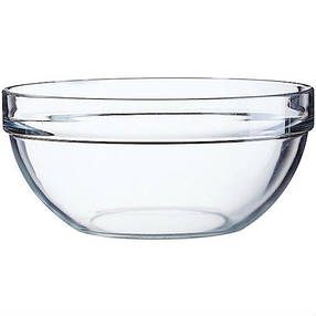 Салатник скляний з бортиком з товстого скла 300 мл Arcoroc Empilable (Н9670), фото 2