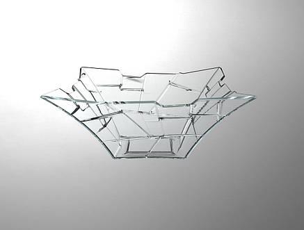 Салатник скляний квадратний Isfahan Violet-916 24 см (916), фото 2