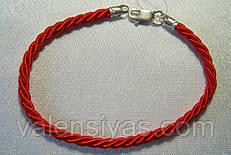 Браслет оберег плетеный - красная нить