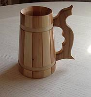 Бокал пивний деревяний (ясень-черешня)