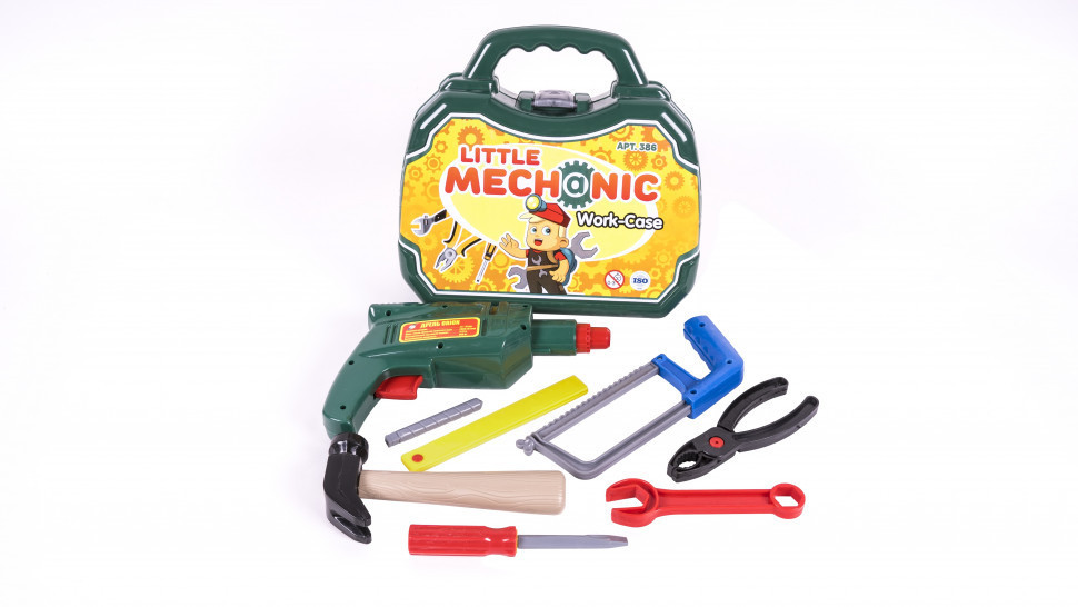 """Набор детских инструментов """"Механик"""" в чемодане 386OR"""